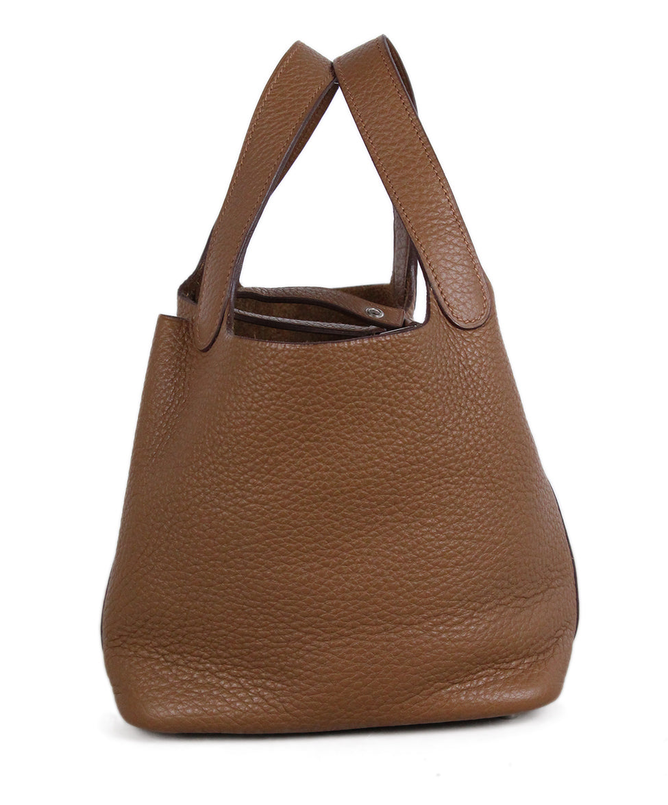 Hermes Tan Leather Picotin Bag 3