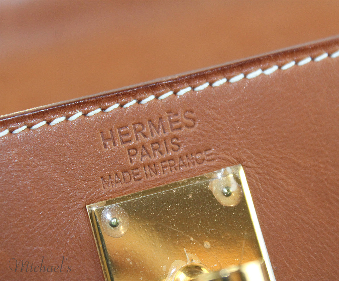 Gold Hardware Hermes Neutral Tan Leather Raffia W/Strap W/Dust Cover Handbag - Michael's Consignment NYC  - 6