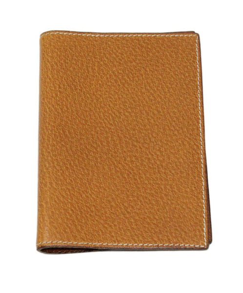Hermes Brown Lizard Leather Small Agenda Cover 1