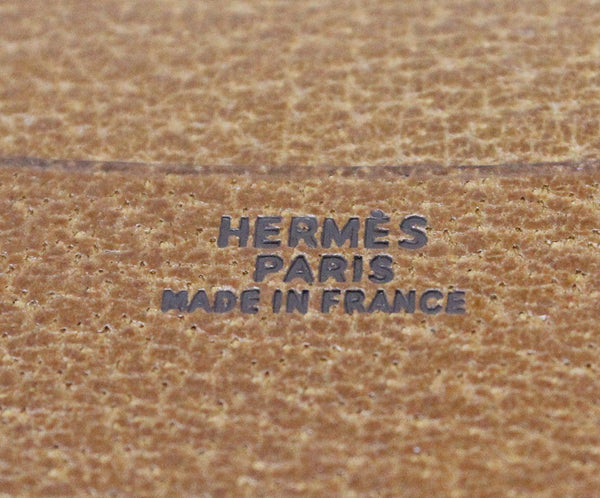 Hermes Brown Lizard Leather Small Agenda Cover 4