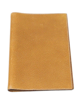 Hermes Brown Lizard Leather Medium Agenda Cover 1