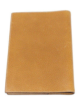 Hermes Brown Lizard Leather Medium Agenda Cover 2