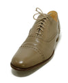 Hermes Taupe Leather Spectator Oxford Flats 1