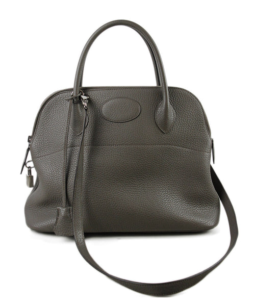 Hermes Taupe Togo Leather Handbag