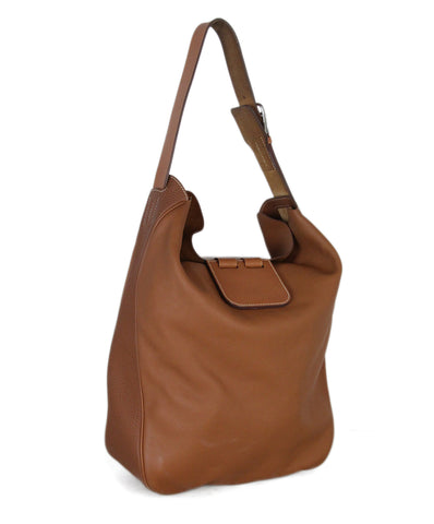 Hermes Tobaco Brown Leather Virevolt Hobo Bag 1