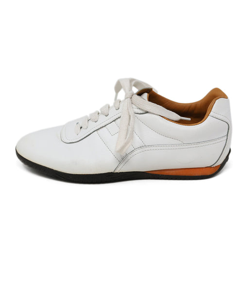 Hermes White Leather Sneakers  1