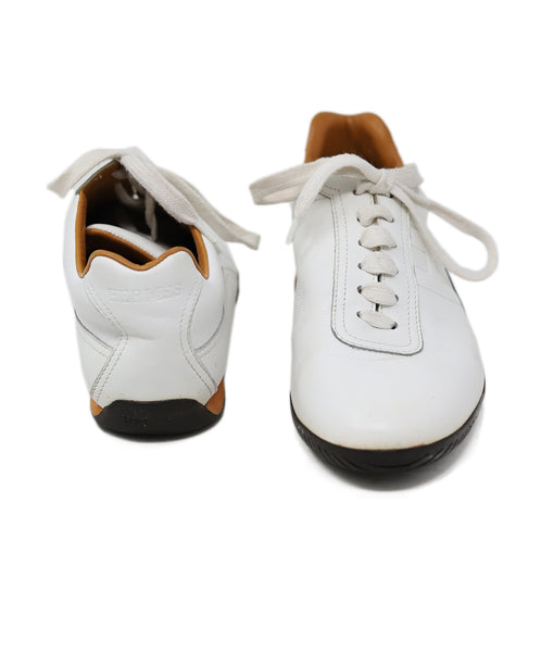 Hermes White Leather Sneakers  3