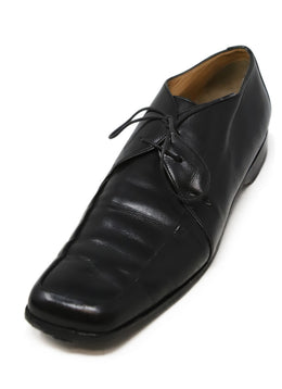 Hermes Black Leather Loafers 1