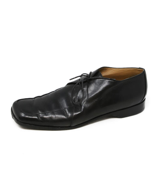 Hermes Black Leather Loafers 2