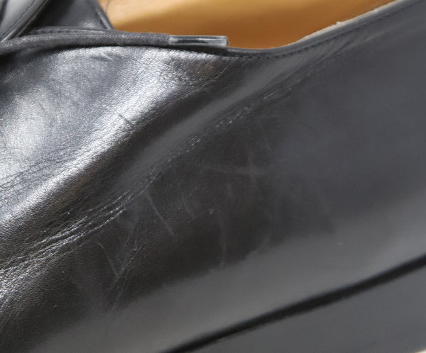 Hermes Black Leather Loafers 7