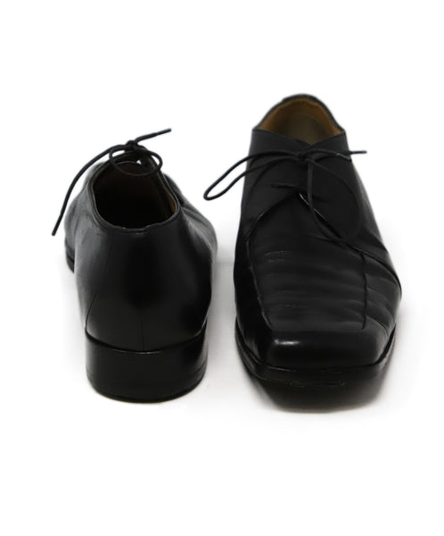 Hermes Black Leather Loafers 3