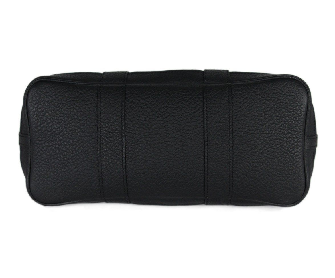 Hermes black canvas leather trim bag 4