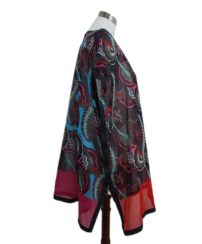 Hermes black fuchsia blue white cover up 1