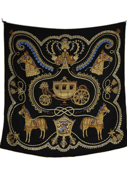 Hermes Horse and Carriage Silk Scarf 2