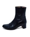 Hermes Black Leather Booties Sz. 38.5 | Hermes