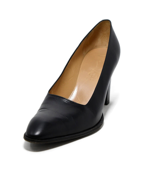 Hermes Black Leather Heels 1