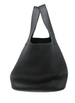 Hermes Black Leather Picotin 18 Bag