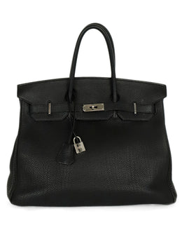 "Hermes Black Togo Leather W/Lock & Key ""as is"" Handbag 1"