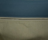 Hermes Blue Leather White Stitching Travel Lindy Luggage 7