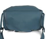 Hermes Blue Leather White Stitching Travel Lindy Luggage 5