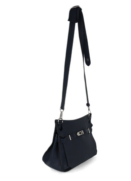 Hermes Blue Navy Leather Jypsiere Shoulder Bag Handbag 2