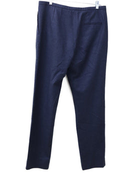 Hermes Size 12 Blue Navy Wool Fa 21 Storage Pants