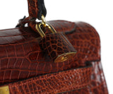Hermes brown crocodile 32cm bag 10