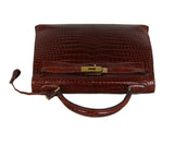 Hermes brown crocodile 32cm bag 5