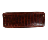 Hermes brown crocodile 32cm bag 4