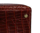 Hermes brown crocodile 32cm bag 12