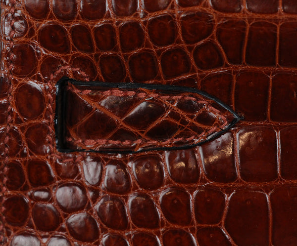 Hermes brown crocodile 32cm bag 17