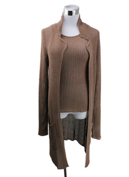 Sweater St Hermes Brown Knit Sweater 2