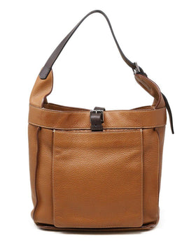Hermes Clemence Marwari Brown Leather Bag
