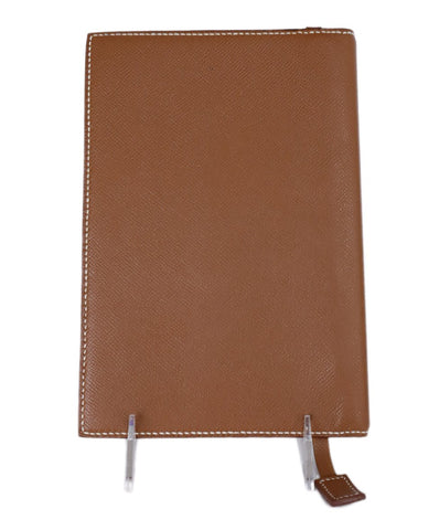 Hermes Brown Leather Leather Portfolio 1