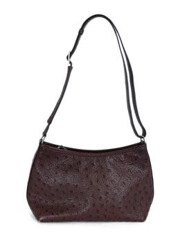 Hermes Brown Ostrich Handbag 1