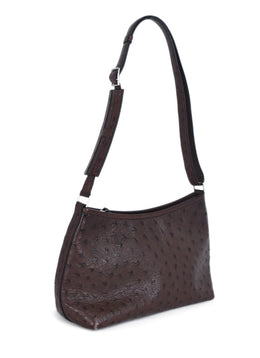 Hermes Brown Ostrich Handbag 2