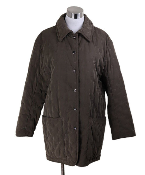 Coat Short Hermes Brown Quilted Polyester Outerwear 1