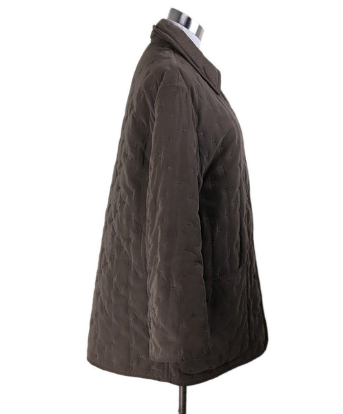 Coat Short Hermes Brown Quilted Polyester Outerwear 2