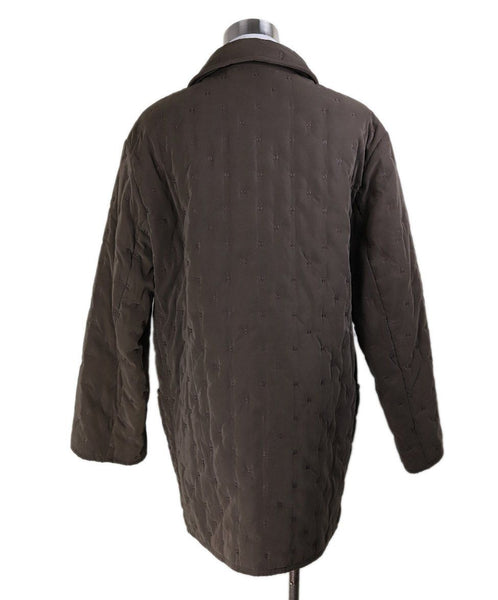 Coat Short Hermes Brown Quilted Polyester Outerwear 3