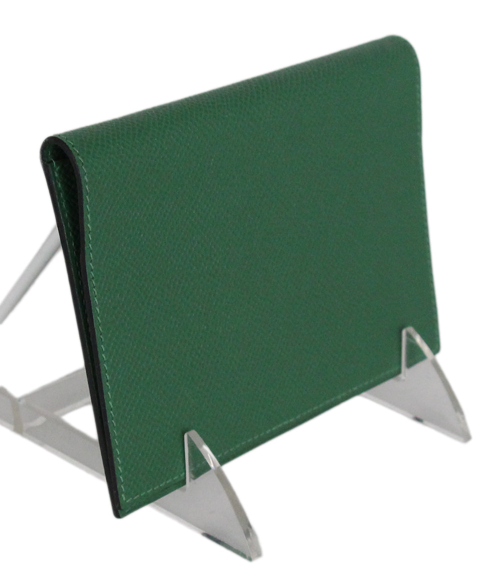 Hermes green leather agenda cover 2