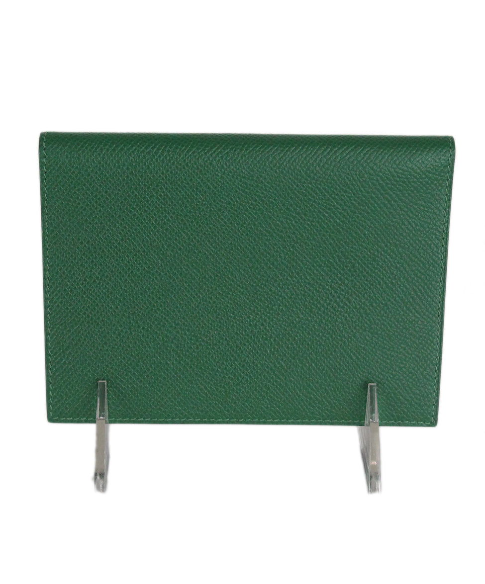 Hermes green leather agenda cover 3