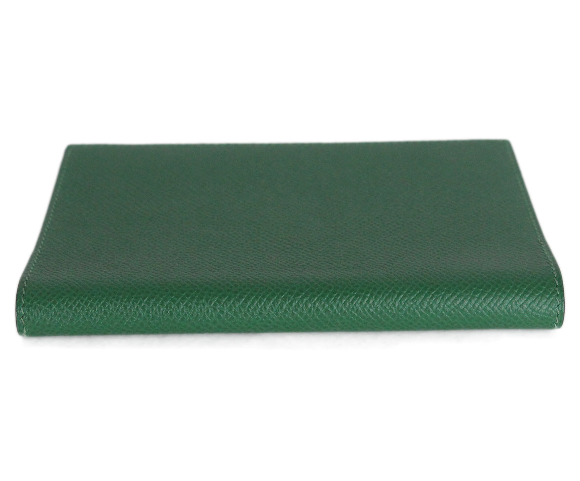 Hermes green leather agenda cover 4