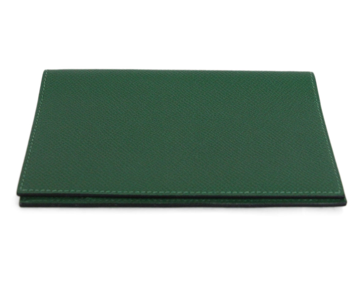 Hermes green leather agenda cover 5