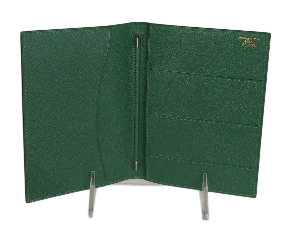 Hermes green leather agenda cover 6