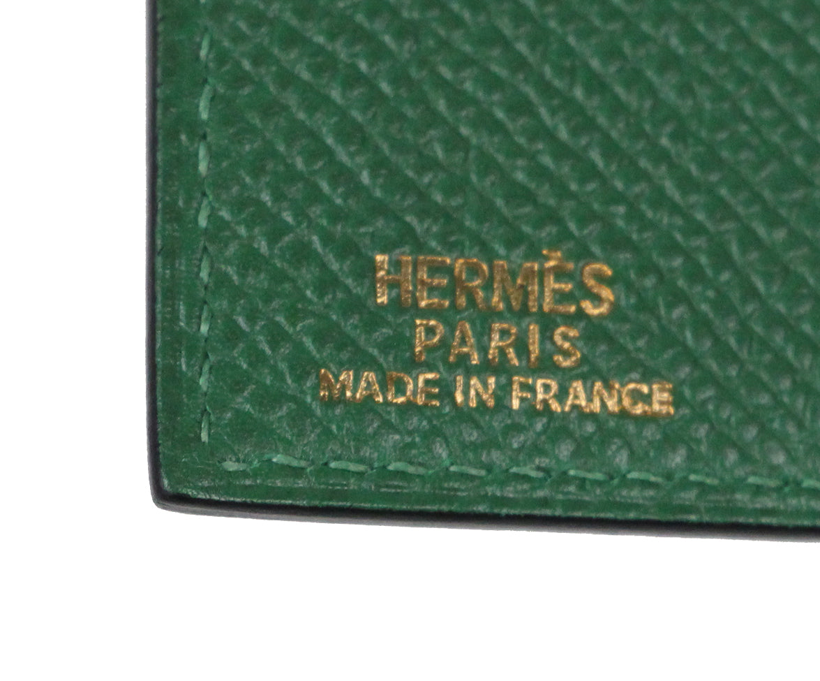 Hermes green leather agenda cover 7