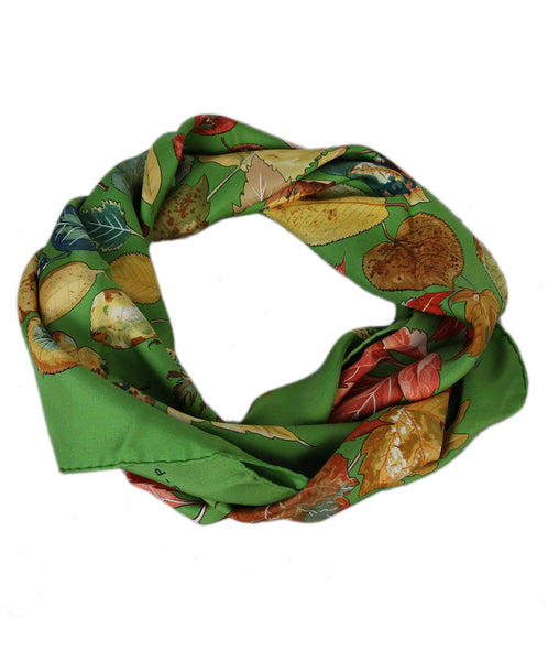 Hermes green leaves scarf 1
