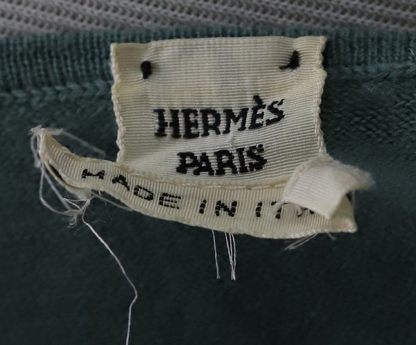 Hermes Green Silk Cashmere Top 3