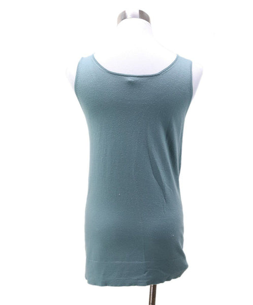 Hermes Green Silk Cashmere Top 2
