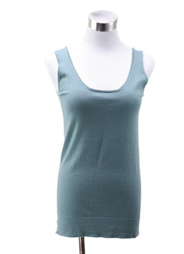 Hermes Green Silk Cashmere Top