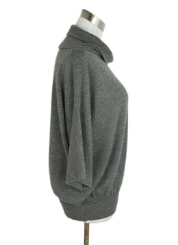 Hermes Grey Charcoal Cashmere Turtleneck Sweater 2